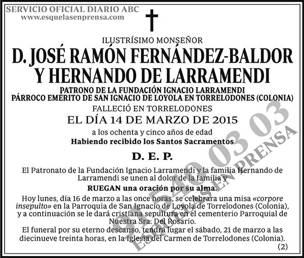 José Ramón Fernández-Baldor y Hernando de Larramendi